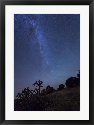 Framed Milky Way Rises Over Kenton, Oklahoma Print
