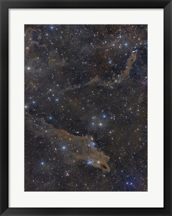 Framed Dusty Nebulae in Cepheus Constellation Print