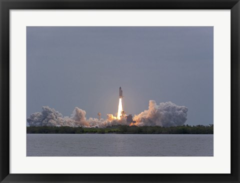 Framed Space Shuttle Atlantis (final launch) Print