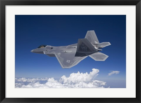 Framed F-22 Raptor over Southern New Mexico Print