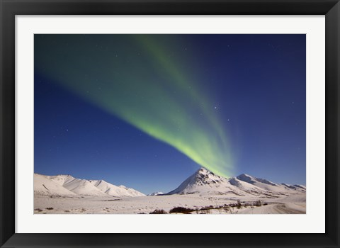 Framed Aurora Borealis over Ogilvie Mountains, Canada Print