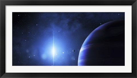 Framed Star Glows on a Nearby Gas Giant Print