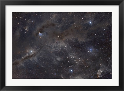 Framed Dusty Nebulae of Taurus Print