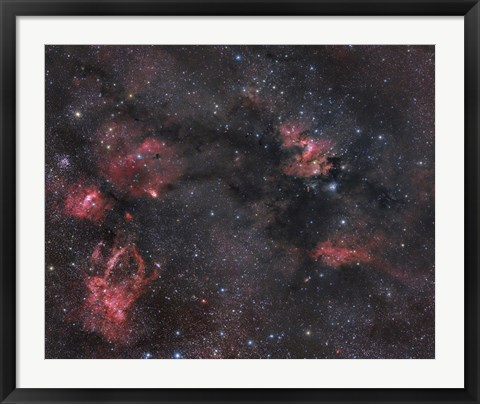 Framed Nebulosity in the Cepheus Constellation Print