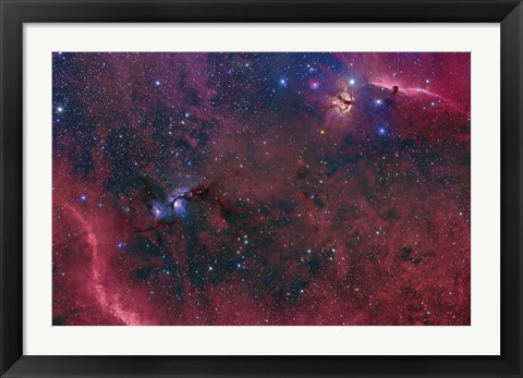 Framed Widefield View in the Orion Constellation Print