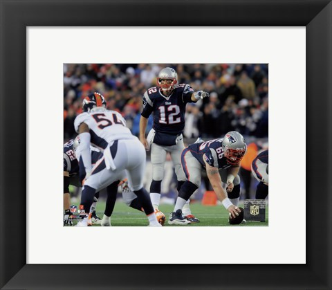 Framed Tom Brady pointing 2014 Print