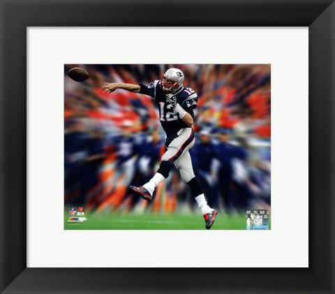 Framed Tom Brady Motion Blast Print