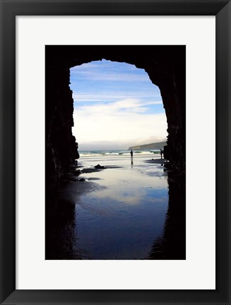Framed Cathedral Cave, Catlins Coast, South Island, New Zealand Print