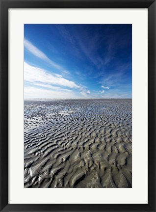 Framed Beach, Doctors Point, South Island, New Zealand (vertical) Print