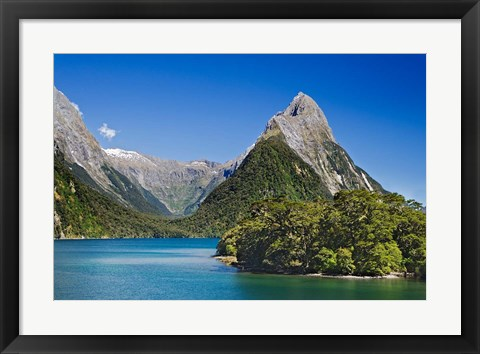 Framed Mitre Peak, Milford Sound, South Island, New Zealand Print