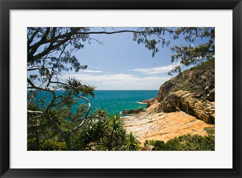 Framed Australia, Queensland, Cook's Landing beach Print