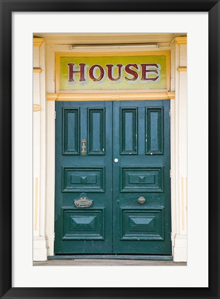 Framed Building detail in the historic district, Maryborough, Queensland, Australia Print