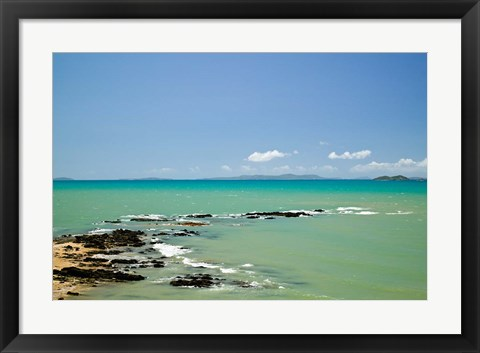 Framed Australia, Emu Park, Churchill Lookout, Beach Print