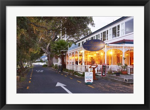 Framed Historic Duke of Marlborough Hotel, Russell, Bay of Islands, Northland, New Zealand Print