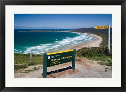 Framed New Zealand, South Island, Tautuku Beach coastline Print