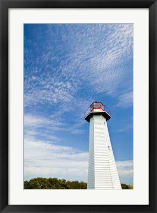 Framed Australia, Cleveland Point Lighthouse, Stradbroke Isl Print