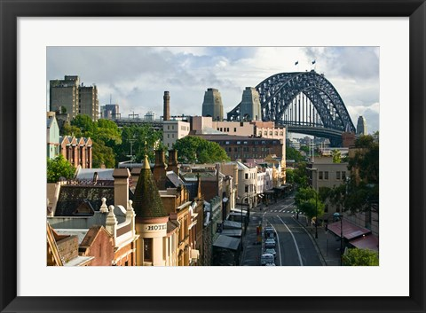 Framed Australia, New South Wales, Sydney, George Street Print