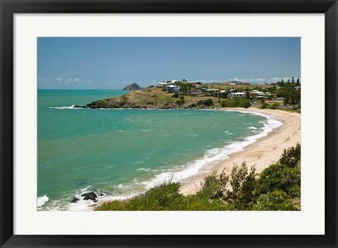 Framed Australia, Queensland, Yeppoon Kemp Beach coastline Print