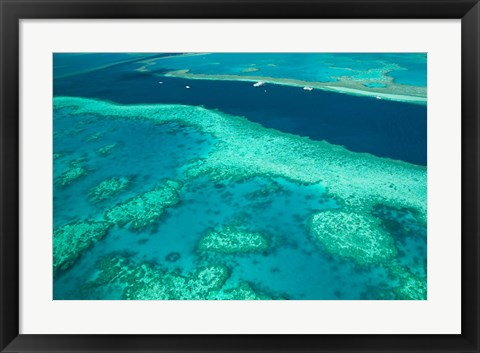 Framed Australia, Whitsunday Coast, Great Barrier Reef (horizontal) Print