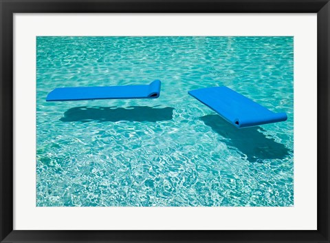 Framed Poolside at the Palazzo Versace Resort, Surfer's Paradise, Gold Coast, Queensland Print