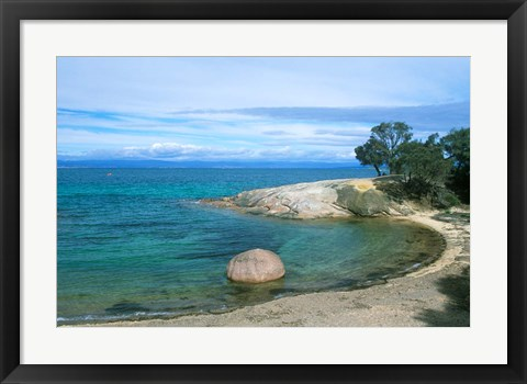 Framed Half Moon Bay, Freycinet National Park, Tasmania, Australia Print
