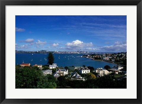 Framed Torpedo Bay, Auckland, North Island, New Zealand, Oceania Print
