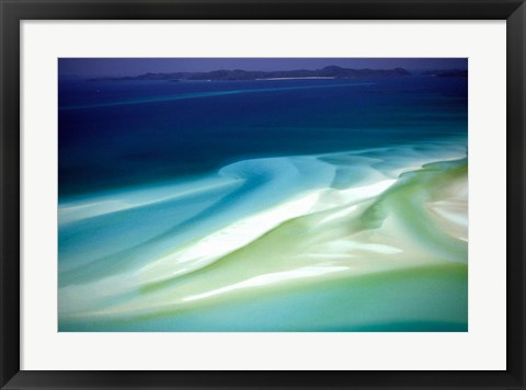 Framed Australia, Whitsunday Island, Hill Inlet, pattern Print