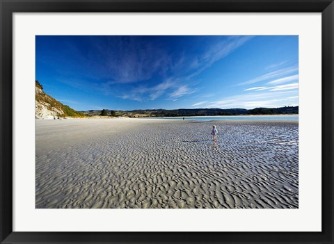 Framed Beach, Doctors Point, South Island, New Zealand (horizontal) Print