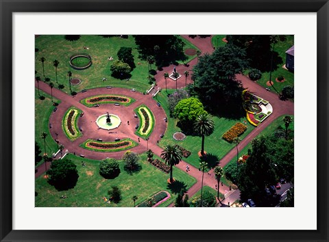 Framed Albert Park and Auckland CBD, New Zealand Print
