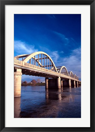 Framed Balclutha Bridge and Clutha River, New Zealand Print