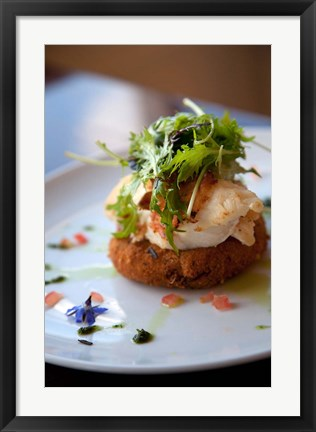 Framed Lobster on Salmon cake, Cuisine, Marlborough, South Island, New Zealand Print