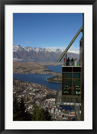 Framed Gondola, Queenstown, South Island, New Zealand Print
