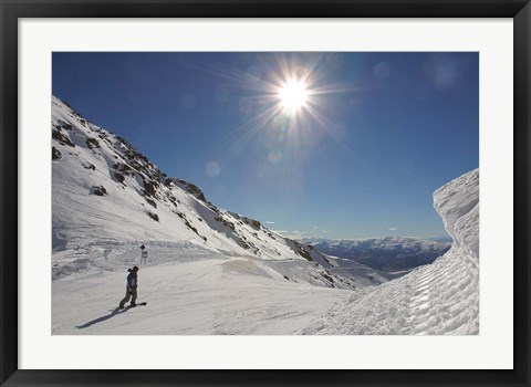 Framed Remarkables Ski Area, Queenstown, South Island, New Zealand Print