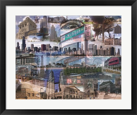 Framed Chicago Day Print