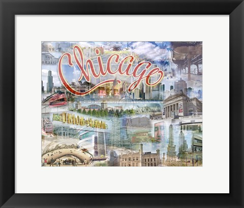 Framed Chi Town Print