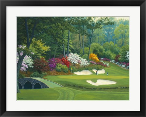 Framed Augusta on the 12th hole Print