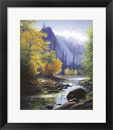 Framed Below Bridal Veil Fallls Print