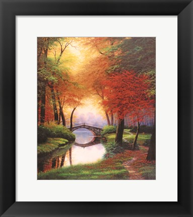 Framed Beside still waters Fall Print