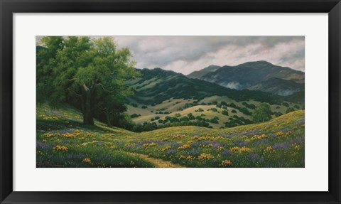 Framed Spring in Carmel Valley Print