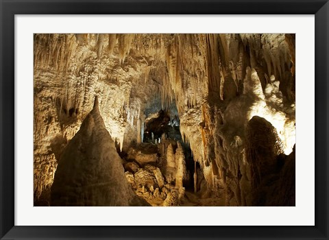 Framed Aranui Cave, Waitomo, North Island, New Zealand Print