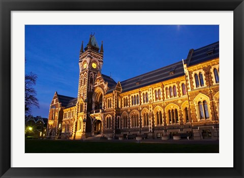 Framed Historic Registry Building, University of Otago, South Island, New Zealand (horizontal) Print