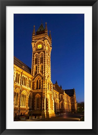 Framed Historic Registry Building, University of Otago, South Island, New Zealand (vertical) Print