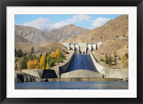 Framed Lake Aviemore, Benmore Dam, South Island, New Zealand Print