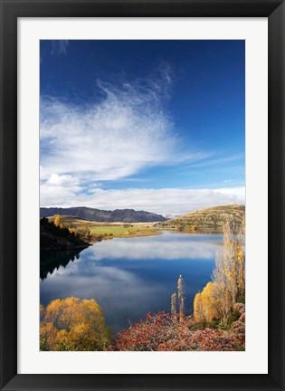 Framed Lake Wanaka, Otago, South Island, New Zealand Print