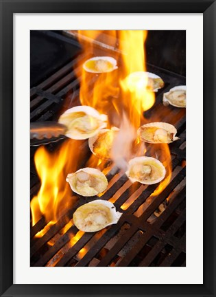 Framed Scallops on Barbeque Print