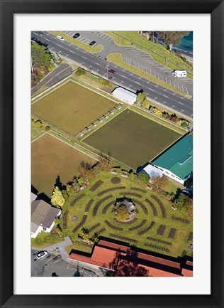 Framed Gardens and Bowling Greens, Taupo, North Island, New Zealand Print