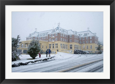 Framed Grand Chateau and Snow, Mt Ruapehu, North Island, New Zealand Print