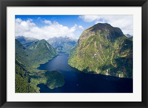 Framed Hall Arm, Doubtful Sound, Fjordland National Park, South Island, New Zealand Print
