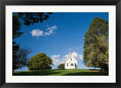 Framed Historic Gladstone Church, Wairarapa, North Island, New Zealand Print