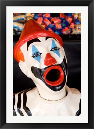 Framed Laughing Clown, Bay of Plenty, North Island, New Zealand Print